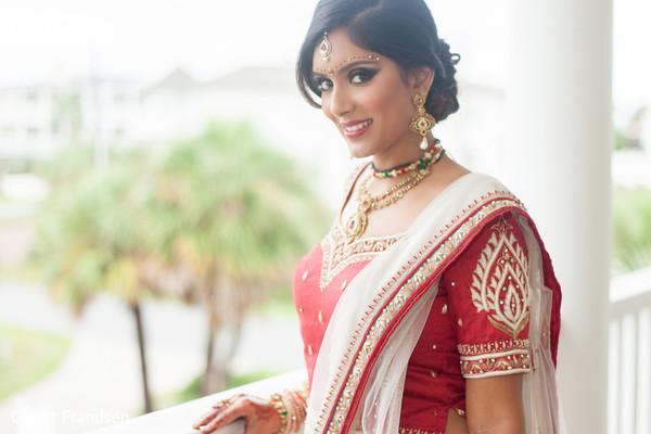 Indian bridal portrait in Tybee Island, GA Indian Wedding by Garret Frandsen Photography
