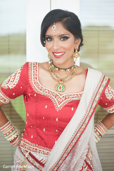 Indian bridal portrait in Tybee Island, GA Indian Wedding by Garret Frandsen Photography