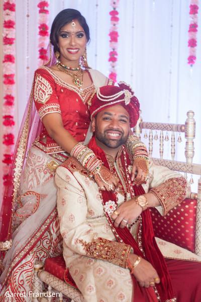 Wedding portraits in Tybee Island, GA Indian Wedding by Garret Frandsen Photography