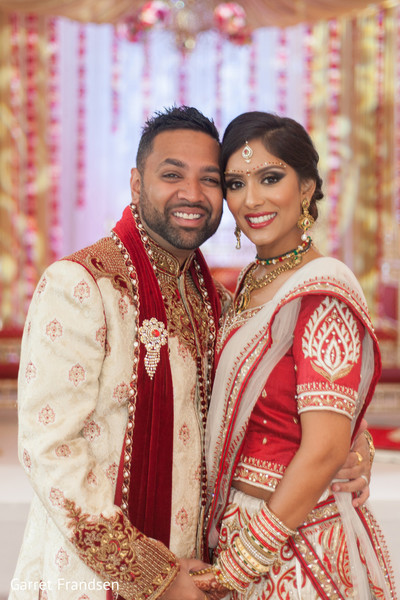 Wedding portraits in Tybee Island, GA Indian Wedding by Garret Frandsen Photography