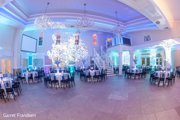 Reception decor in Tybee Island, GA Indian Wedding by Garret Frandsen Photography