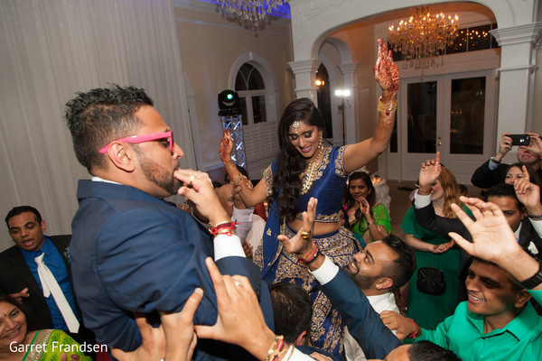 Reception in Tybee Island, GA Indian Wedding by Garret Frandsen Photography