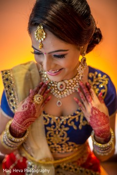 getting ready,indian bride getting ready,tikka,updo