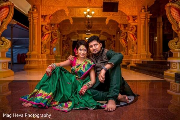 Engagement Portrait in Klang, Malaysia Indian Wedding by Mag Heva Photography