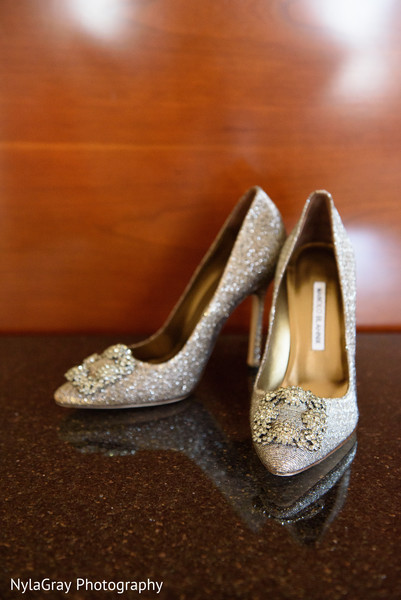 Wedding heels in Glen Head, NY Indian Fusion Wedding by NylaGray Photography