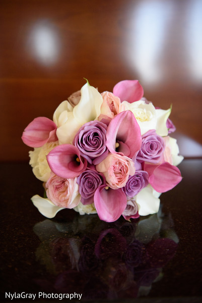 Bridal bouquet in Glen Head, NY Indian Fusion Wedding by NylaGray Photography