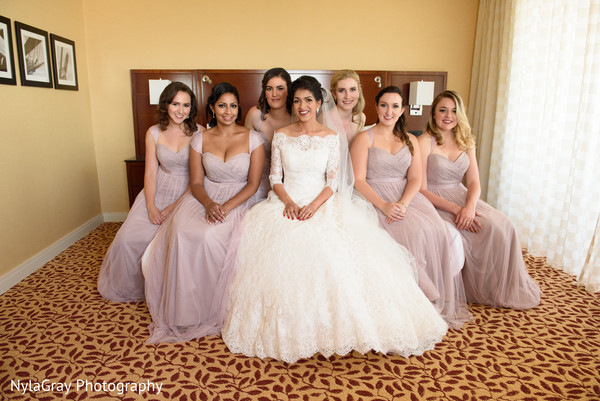 Bridal party in Glen Head, NY Indian Fusion Wedding by NylaGray Photography
