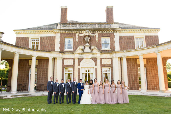 Wedding party in Glen Head, NY Indian Fusion Wedding by NylaGray Photography