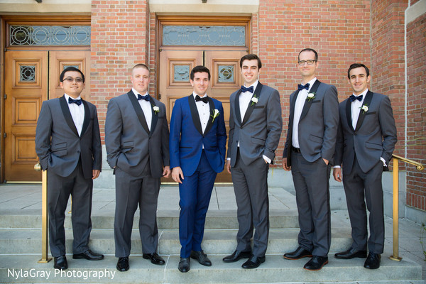 Groomsmen in Glen Head, NY Indian Fusion Wedding by NylaGray Photography