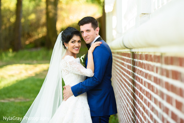 Wedding portrait in Glen Head, NY Indian Fusion Wedding by NylaGray Photography