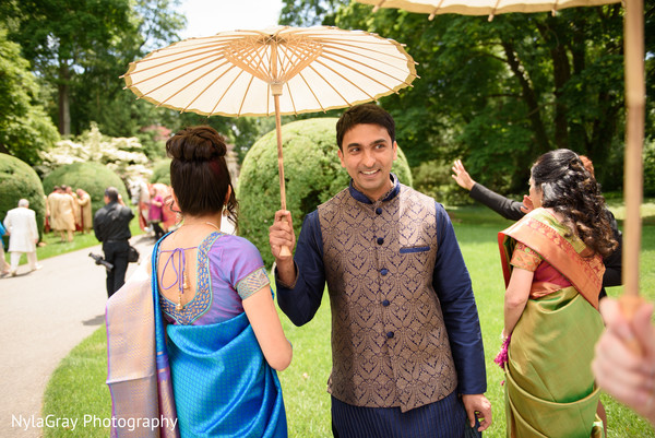 Baraat in Glen Head, NY Indian Fusion Wedding by NylaGray Photography