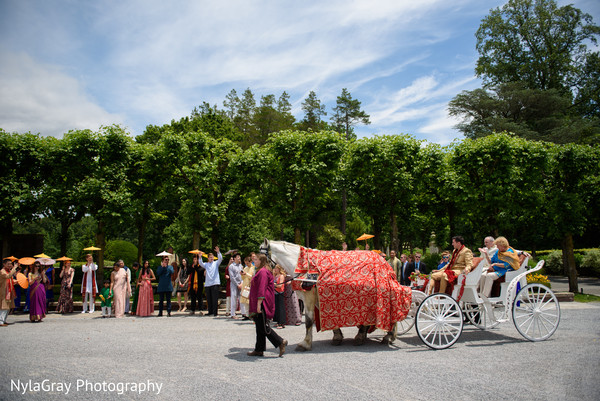 Baraat in Glen Head, NY Indian Fusion Wedding by NylaGray Photography