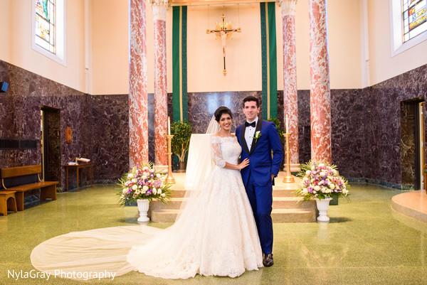Christian ceremony in Glen Head, NY Indian Fusion Wedding by NylaGray Photography