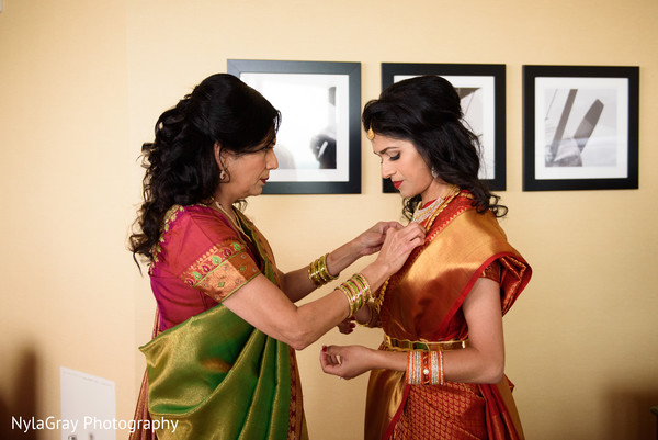Getting ready in Glen Head, NY Indian Fusion Wedding by NylaGray Photography