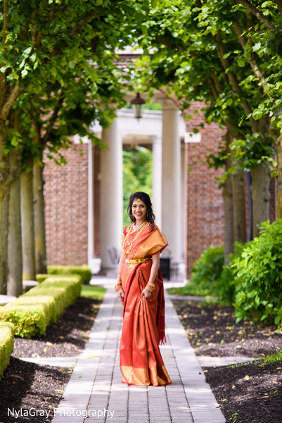Indian bride in Glen Head, NY Indian Fusion Wedding by NylaGray Photography