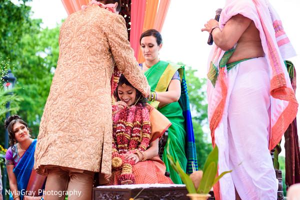 Hindu ceremony in Glen Head, NY Indian Fusion Wedding by NylaGray Photography