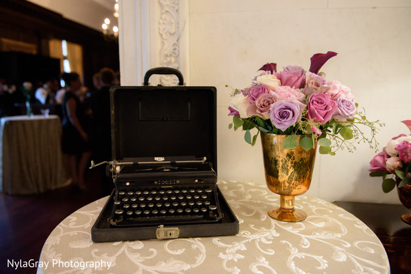 Reception decor in Glen Head, NY Indian Fusion Wedding by NylaGray Photography