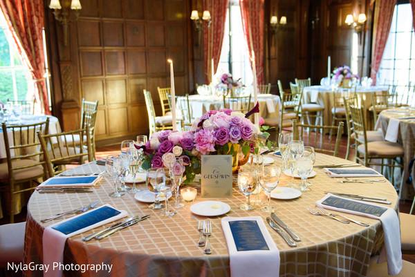 Reception decor in Glen Head, NY Indian Fusion Wedding by NylaGray Photography