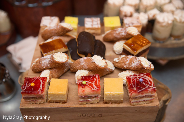 Desserts in Glen Head, NY Indian Fusion Wedding by NylaGray Photography