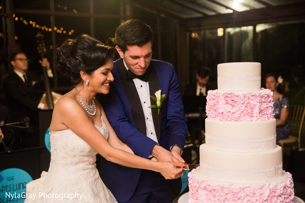 Reception in Glen Head, NY Indian Fusion Wedding by NylaGray Photography
