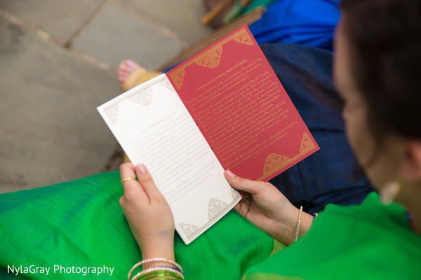 Stationery in Glen Head, NY Indian Fusion Wedding by NylaGray Photography