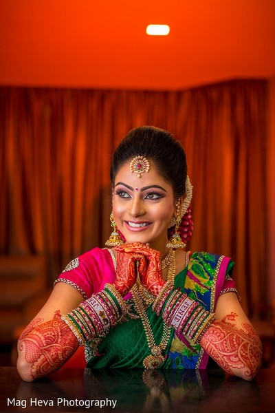 Bridal Portrait in Klang, Malaysia Indian Wedding by Mag Heva Photography