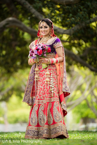 Bridal Fashion in Los Angeles, CA Indian Wedding by Lin & Jirsa Photography