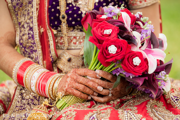 Bridal Bouquet in Los Angeles, CA Indian Wedding by Lin & Jirsa Photography