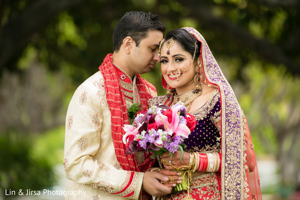 First Look in Los Angeles, CA Indian Wedding by Lin & Jirsa Photography