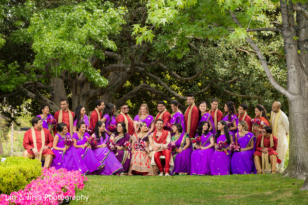 Wedding Party in Los Angeles, CA Indian Wedding by Lin & Jirsa Photography