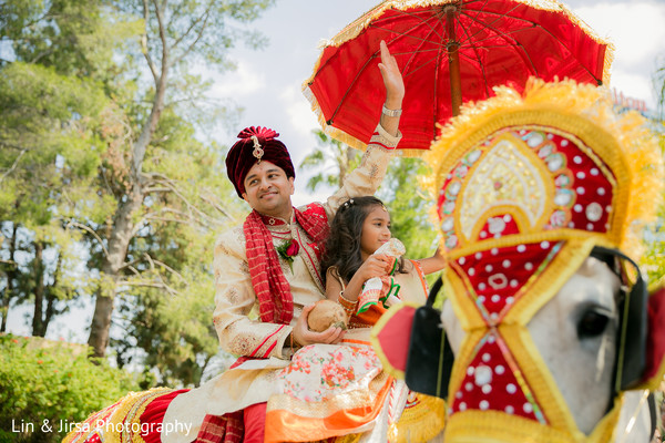 Baraat in Los Angeles, CA Indian Wedding by Lin & Jirsa Photography