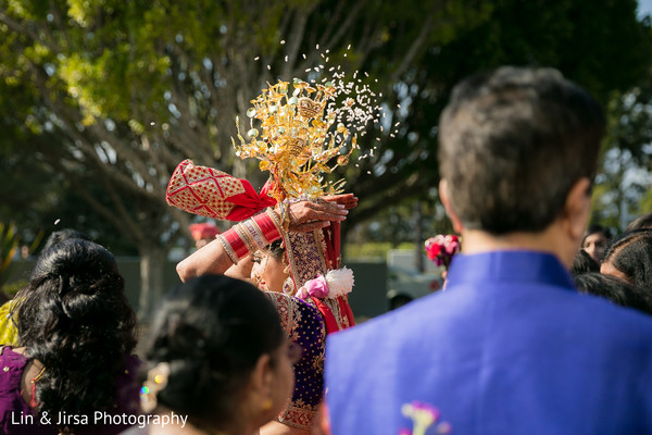 Vidaai in Los Angeles, CA Indian Wedding by Lin & Jirsa Photography