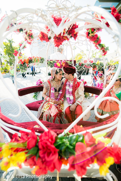 Ceremony in Los Angeles, CA Indian Wedding by Lin & Jirsa Photography