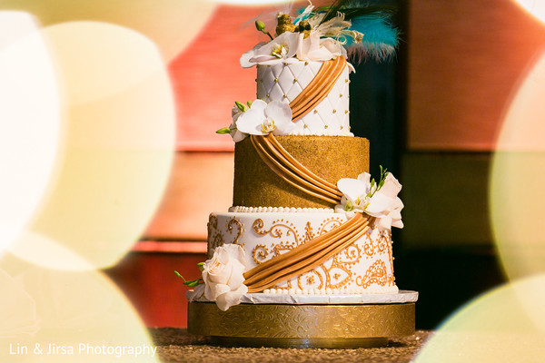 Wedding Cake in Los Angeles, CA Indian Wedding by Lin & Jirsa Photography