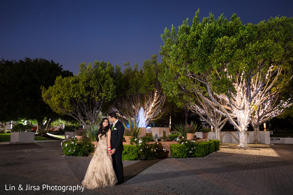 Reception Portrait in Los Angeles, CA Indian Wedding by Lin & Jirsa Photography