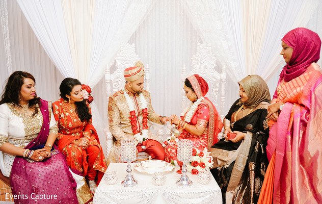 Hindu ceremony in Flushing, NY Indian Wedding by Events Capture