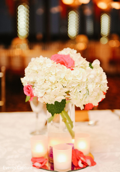 Reception decor in Flushing, NY Indian Wedding by Events Capture