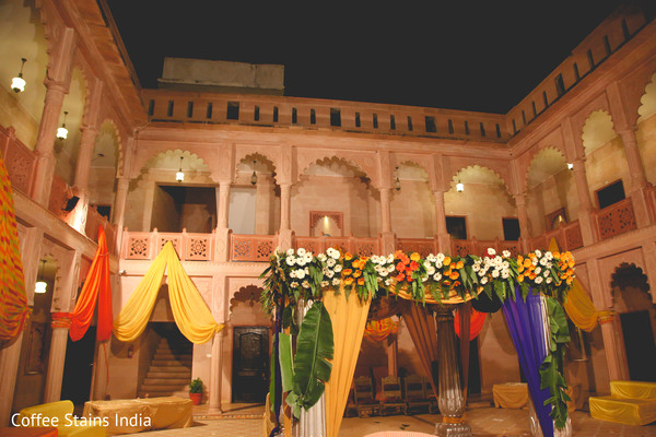 Ceremony Decor in Alwar, Rajasthan Indian Wedding by Coffee Stains India