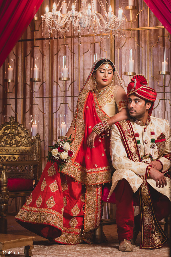 First Look in Dallas, TX Indian Wedding by MnMfoto