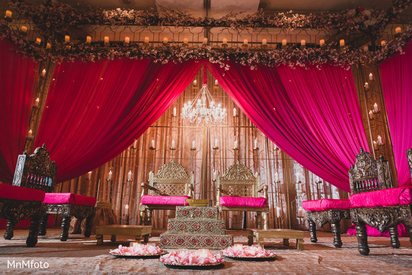 Ceremony Decor in Dallas, TX Indian Wedding by MnMfoto