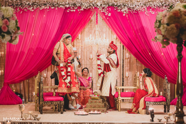 Ceremony in Dallas, TX Indian Wedding by MnMfoto