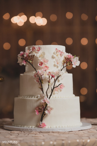 Wedding Cake in Dallas, TX Indian Wedding by MnMfoto