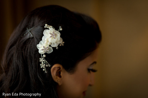 Flower accessories in Edison, NJ Indian Wedding by Ryan Eda Photography