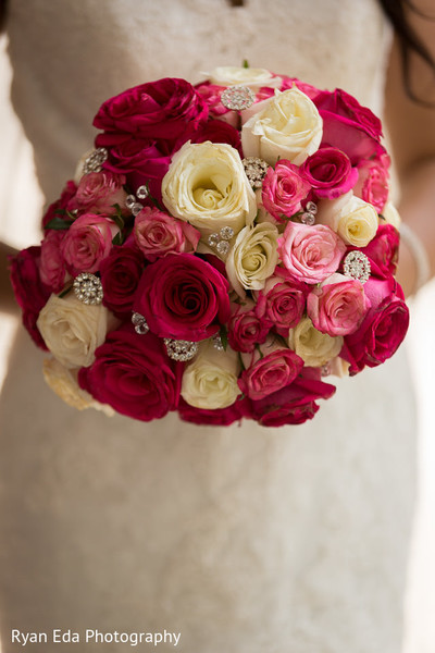 Bridal bouquet in Edison, NJ Indian Wedding by Ryan Eda Photography