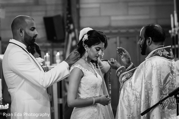 Ceremony in Edison, NJ Indian Wedding by Ryan Eda Photography