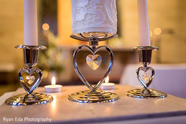 Ceremony decor in Edison, NJ Indian Wedding by Ryan Eda Photography