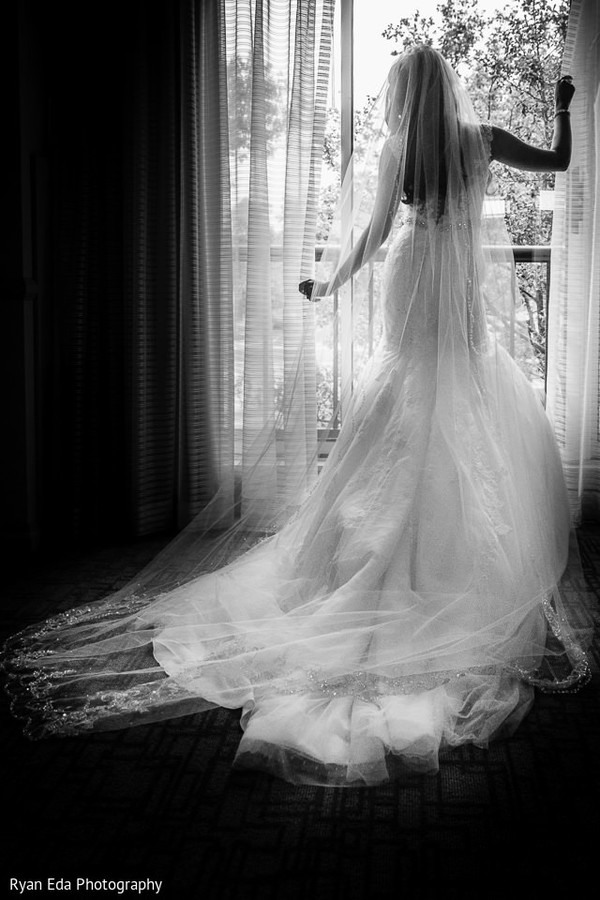 White wedding dress in Edison, NJ Indian Wedding by Ryan Eda Photography