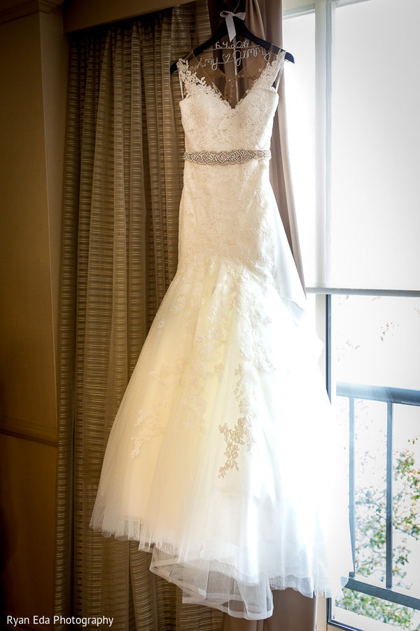 White wedding dress in Edison, NJ Indian Wedding by Ryan Eda Photography