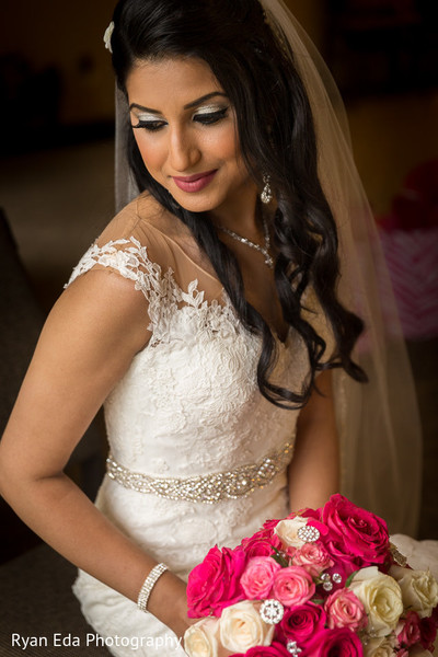 Indian bride in Edison, NJ Indian Wedding by Ryan Eda Photography
