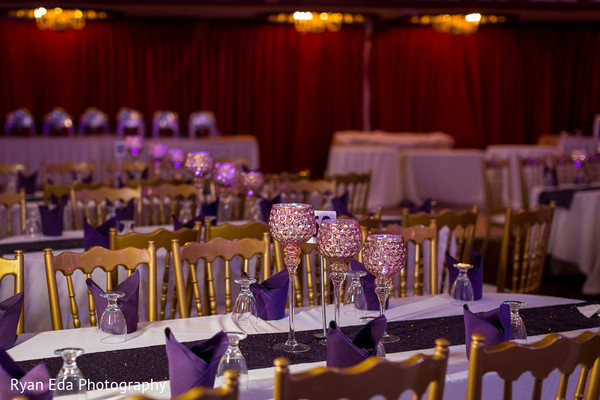 Reception decor in Edison, NJ Indian Wedding by Ryan Eda Photography